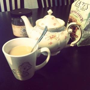 tea and tea pot for me